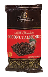 Milk Chocolate and Coconut Covered Almonds